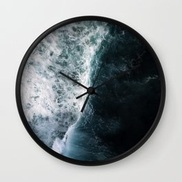 Oceanscape - White and Blue Wall Clock
