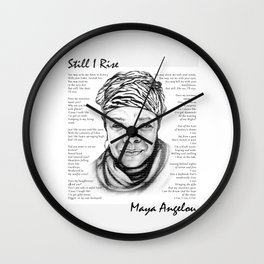 Still I Rise Print Maya Angelou Poem Wall Clock