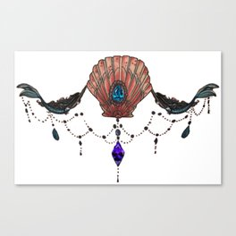 mermaid sternum Canvas Print