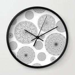 Stylish circles print Wall Clock