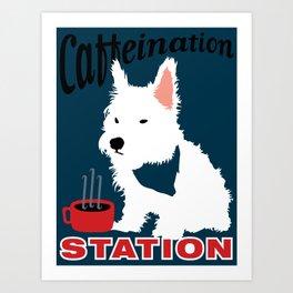 Caffeination Station Art Print