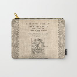 Cervantes. Don Quijote, 1605. Carry-All Pouch
