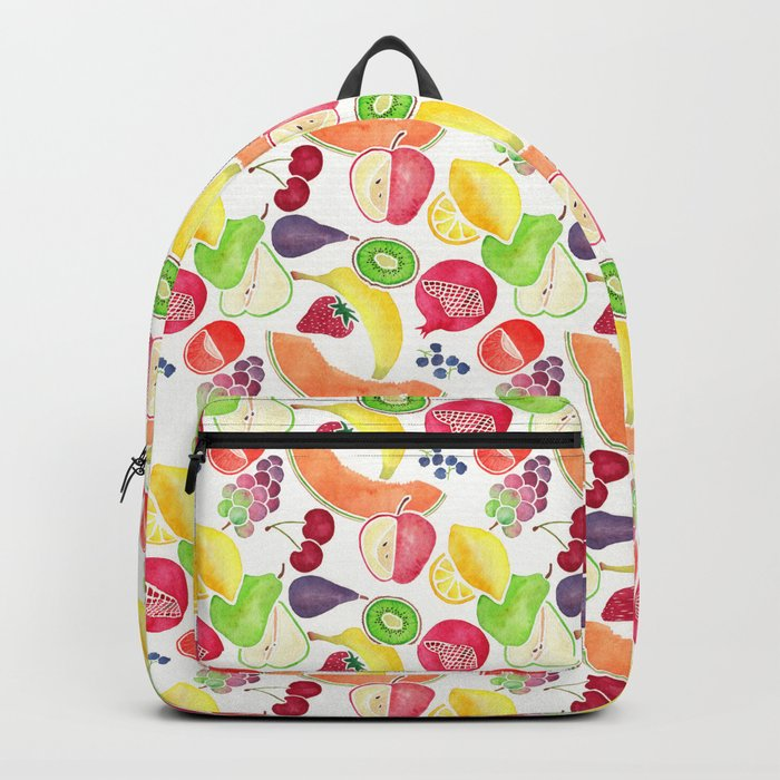 Fruit Medley on White in Watercolor Backpack