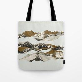Golden Zugspitze / White Tote Bag