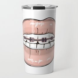 Lips vs braces Travel Mug