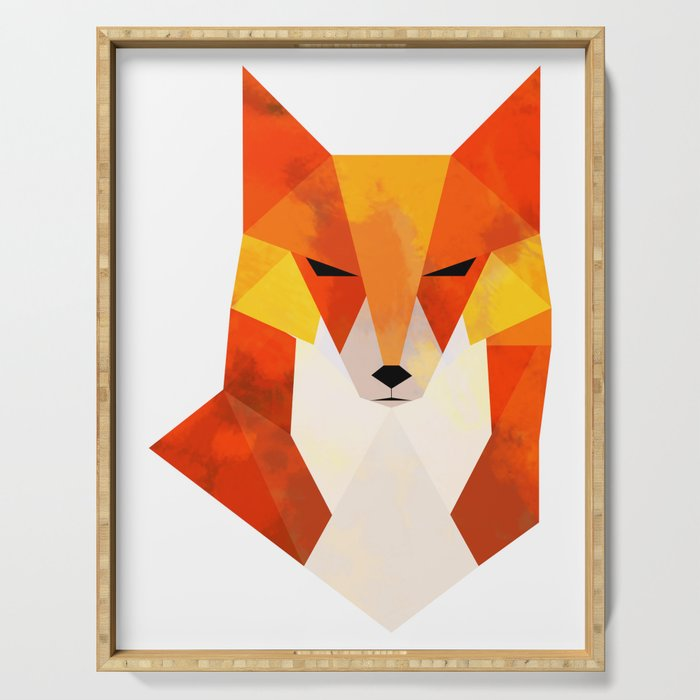 Geometric Fox Serving Tray