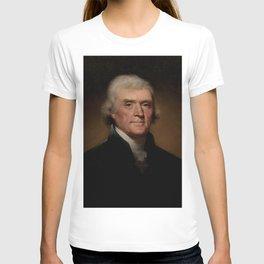 portrait of Thomas Jefferson by Rembrandt Peale T-shirt