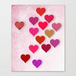 Hearts Galore Canvas Print