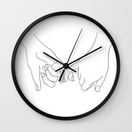 Pinky Promise Wall Clock