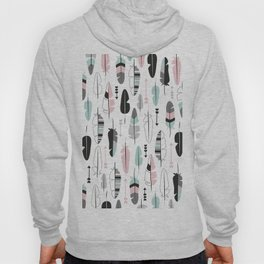 Arrows and feathers summer pattern Hoody
