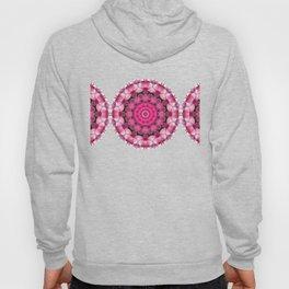 Beautiful pink Blossoms 001, Nature Mandala Hoody