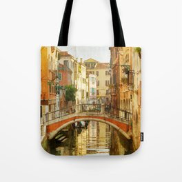 On a Venetian Canal Tote Bag