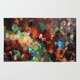 Colorful Contemporary Abstract Art Rug