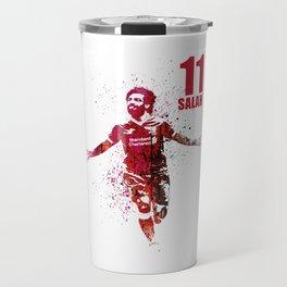 SPORTS ART #SALAH THE KING RED Travel Mug