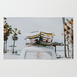 lets surf / venice beach, california Rug