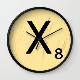 Scrabble X Initial - Large Scrabble Tile Letter Wall Clock