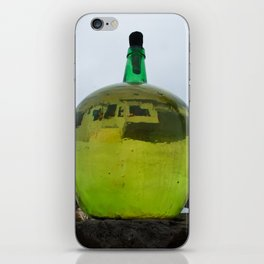 Green Bottle with a reflection iPhone Skin