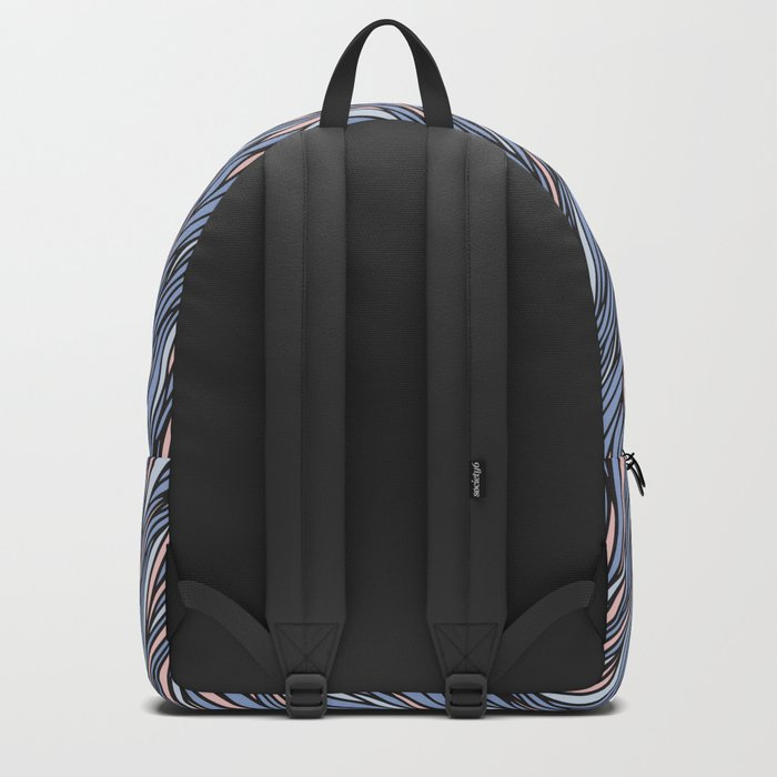 Rose quartz serenity wave pattern Backpack