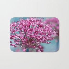 Allium pink Bath Mat