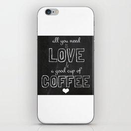 Love and coffee iPhone Skin