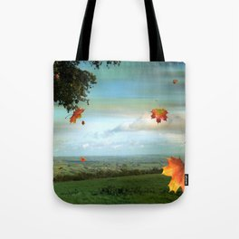Windy Day Blagdon. Tote Bag