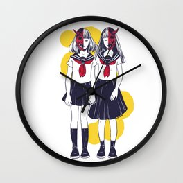 Oni Girls Wall Clock
