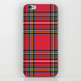 Red & Green Tartan Pattern iPhone Skin