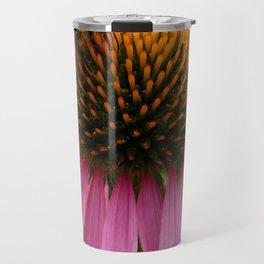 Coneflower with Bee Travel Mug