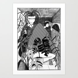 Living in a box. Art Print