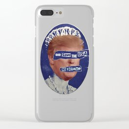 God Save The Trump Pistols Clear iPhone Case