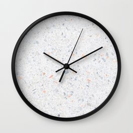 Natural Terrazzo Stone Stucture Pattern Pastel Wall Clock