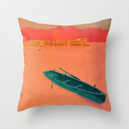 Vintage Travel Poster - Upaipur / India Throw Pillow