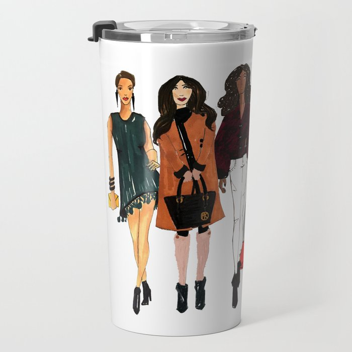 Glam Girls, Pinales Illustrated Travel Mug