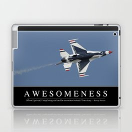 Awesomeness: Inspirational Quote and Motivational Poster Laptop & iPad Skin