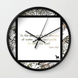 Psalm 42:1 Wall Clock