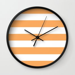 Rajah - solid color - white stripes pattern Wall Clock