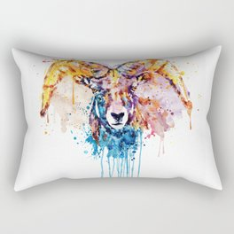 Bighorn Sheep Portrait Rectangular Pillow