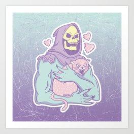 Skeletor's Cat Art Print