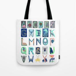 Alphabet Letter Decor Design Art Pattern Tote Bag