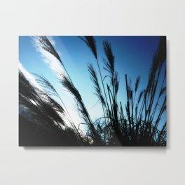 Feeling Free #1 #grasses #BlueSky #art #society6 Metal Print