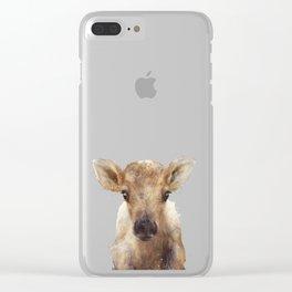 Little Reindeer Clear iPhone Case