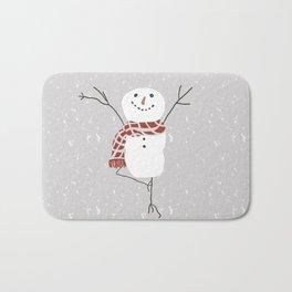 Snowman yoga - the tree Bath Mat