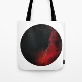 Black Lava on White Tote Bag
