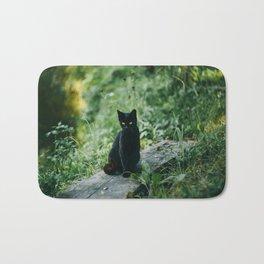 Lucky Black Cat Bath Mat
