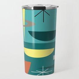 Turquoise Mid Century Modern Travel Mug