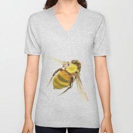 Bee, bee art, bee design Unisex V-Neck
