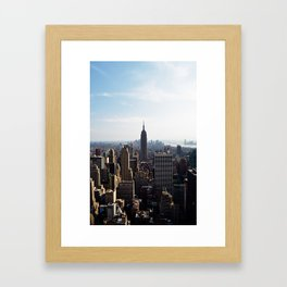 city skyline Framed Art Print