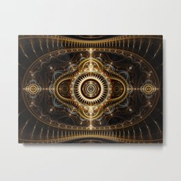 All Seeing Eye - Abstract Fractal Artwork Metal Print