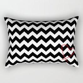 CHEVRON&HEART Rectangular Pillow