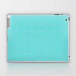 Aqua or Cyan Gingham Laptop & iPad Skin